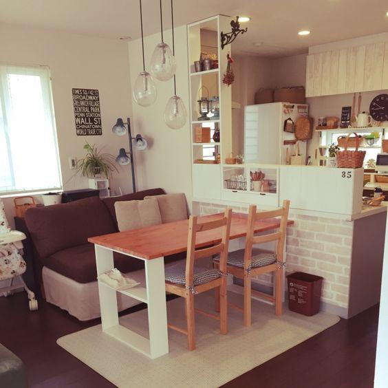 照明/ソファ/IKEA/DIY/ダイニング/部屋全体…などのインテリア実例 - 2015-04-04 00:05:02 | RoomClip(ルームクリップ)