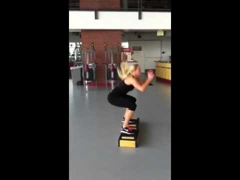 Half burpee to box jump. Plyo drill---> fat burning
