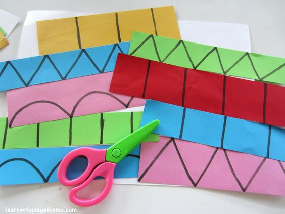 Learn with your kids - Give them  Cutting Practice & help them learn shapes