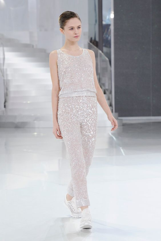 Chanel Makes A Case For Couture Low-Tops, Head-To-Toe Sparkle #refinery29