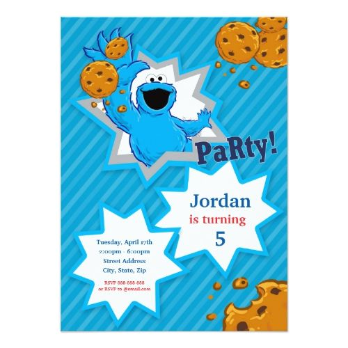 Cookie Monster Birthday Invitation Zazzle Com Cookie Monster Birthday Monster Birthday Invitations Monster Birthday