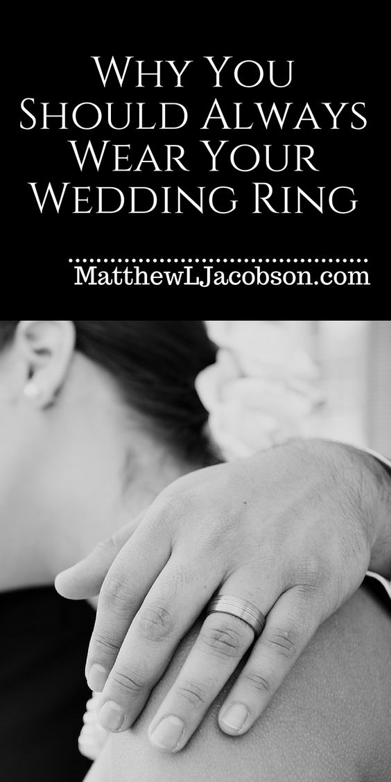 Does it matter anymore if you don't bother wearing your wedding ring on a regular basis?