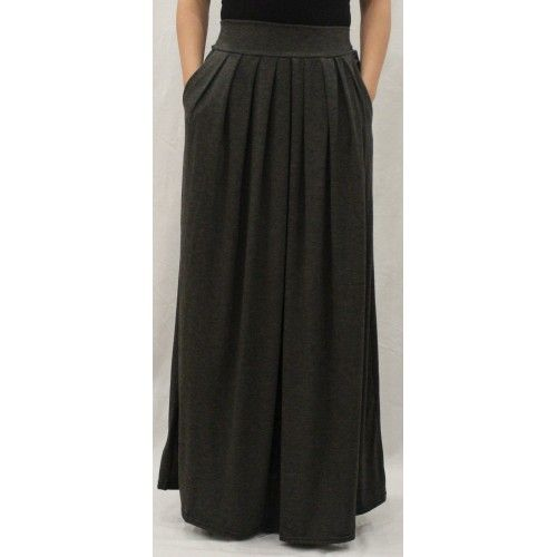 ESSENTIAL MAXI SKIRT CHARCOAL