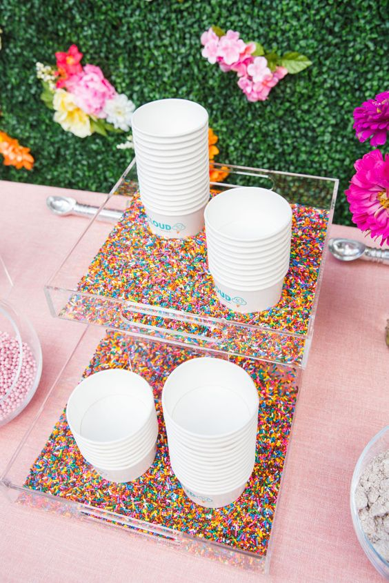 How to Throw an Ice Cream Party | Love those rainbow sprinkles! See more at blog.cuteheads.com