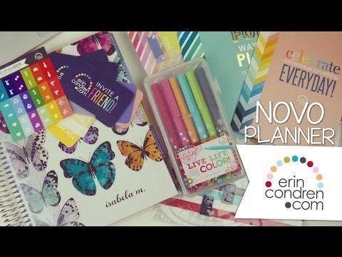 Meu PLANNER novo chegou! ♥ Erin Condren LifePlanner ♥ - YouTube