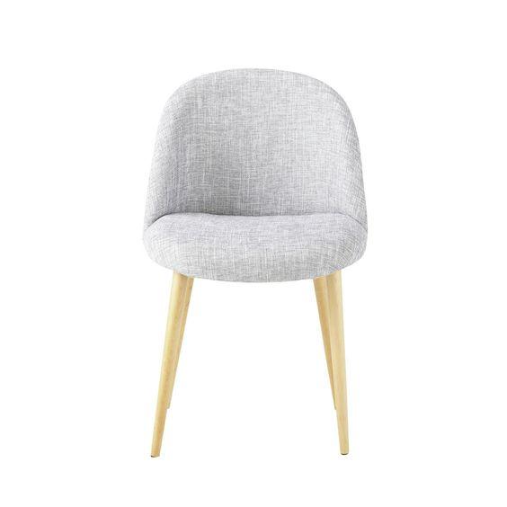 80,19- Chaise vintage gris chin� MAURICETTE chez maisons du monde. Peut aussi faire fauteuil de bureau