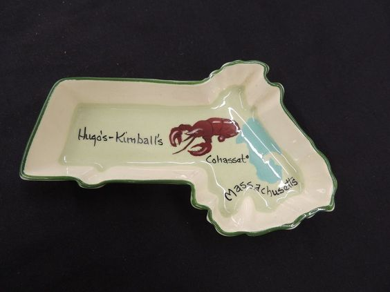 Vtg 1988 Hugo's-Kimball's Ashtray Souvenir Cohasset Massachusetts Annie Laura