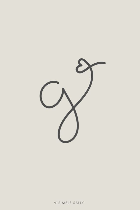 Simple + Fun Designs | letter G initial | #initials #simplesally #forphotographers #design