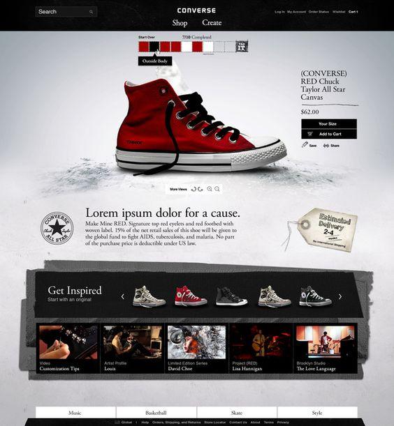 converse.com redesign - by Trevor Eld: Ui Design, Webdesign Coach, Webdesign Highheels, Eld Webdesign, Web Interface, Converse Website, Website Interface, Website Designs