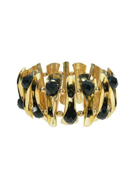 Pure Glam Bracelet - Black $39.95 #leethal #accessories #fashion