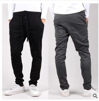 Дешевое 2014 Новый стиль мода мужские брюки хип хоп, спорт на открытом воздухе свободного покроя брюки пот бег брюки бесплатная доставка, Купить Качество Active Pants непосредственно из китайских фирмах-поставщиках:                                                     Примечание           :