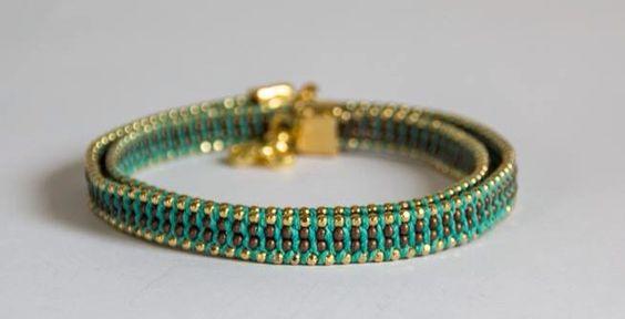 Green & Gold Bracelete