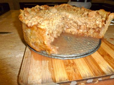 Deep Dish Apple Pie Serves 12-16 Recipe from The Smitten Kitchen Cookbook  Pie dough:  Ingredients: 2 1/2 cups all purpose flour 1 tablespoo...