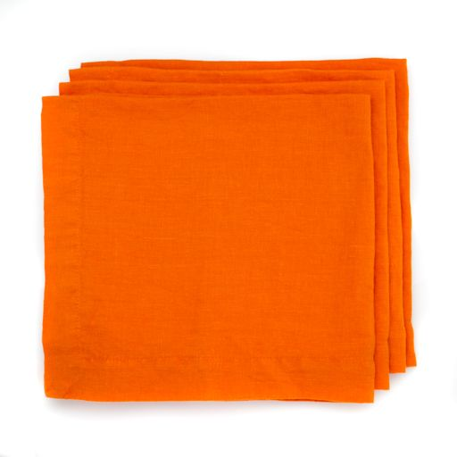 The perfect orange linen napkin, made just for us in our hometown of San Francisco.