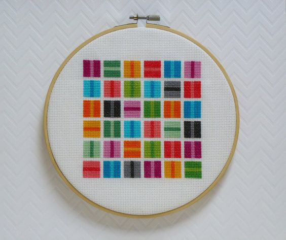 Embroidery inside out and modern cross stitch on pinterest