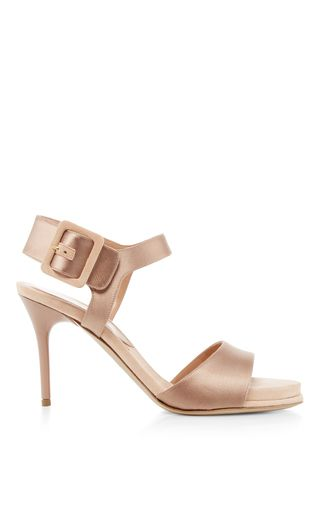 These **Paul Andrew** Kalida heels exude glamour in satin and suede.