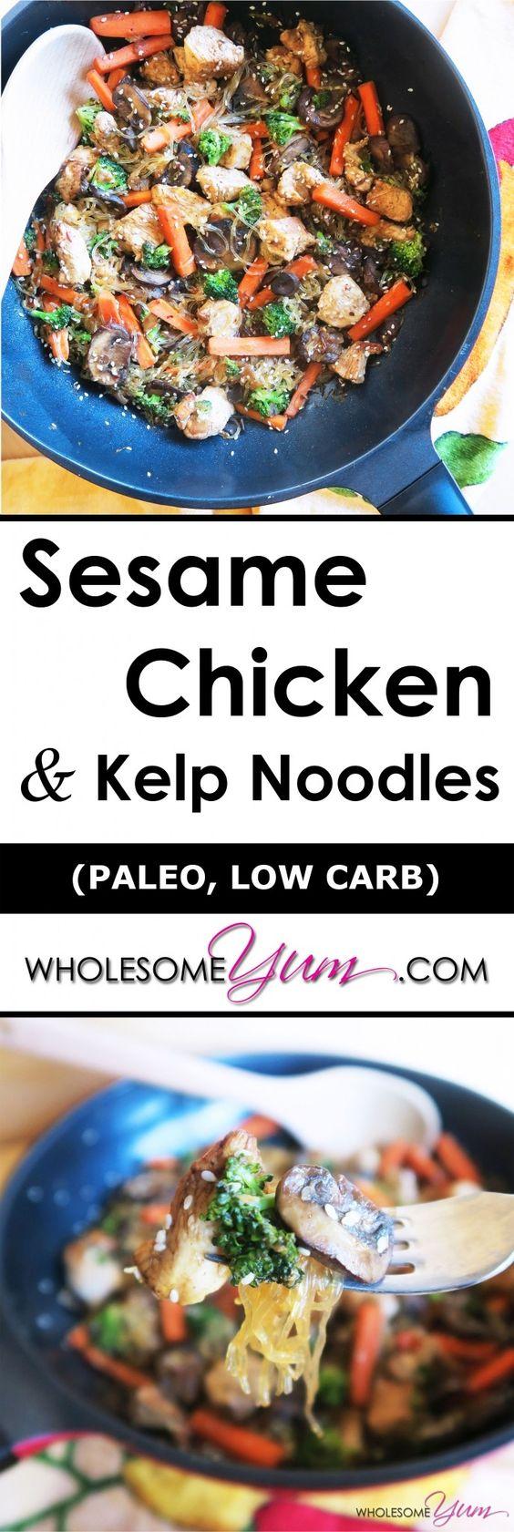 chicken kelp sesame chicken and more kelp noodles sesame chicken low ...