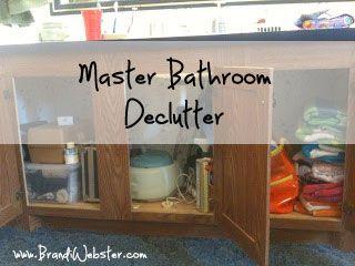 Declutter? Check! I completely decluttered my master bathroom!