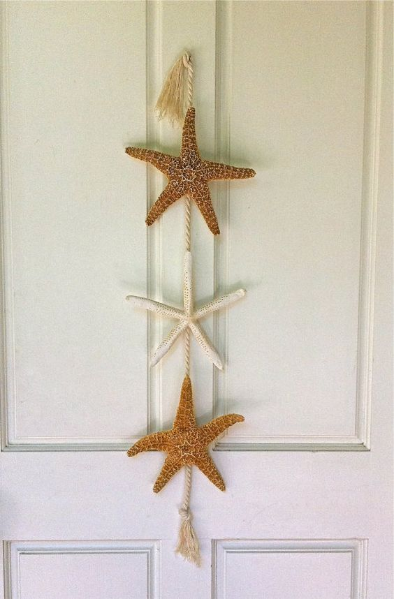 Starfish Door Hanging  Christmas Beach Decor by SeashellCollection, $32.00