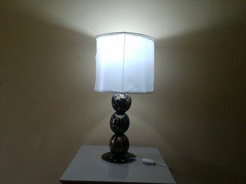 Lámpara Para Sala 1 Parte Fácil Y Super Económico Youtube Lámpara Reciclaje Lamparas Lámparas