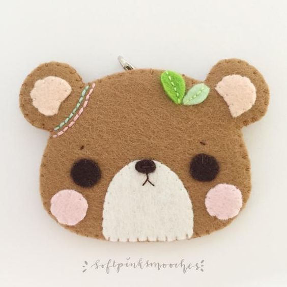 Planner Charm Dangle 3 X 2 Kawaii Felt Animal Etsy