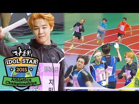 Lane One Is Seventeen Lane Four Is Bts 2015 Idol Star Athletics Championships Youtube Seventeen Korean Music Athlete