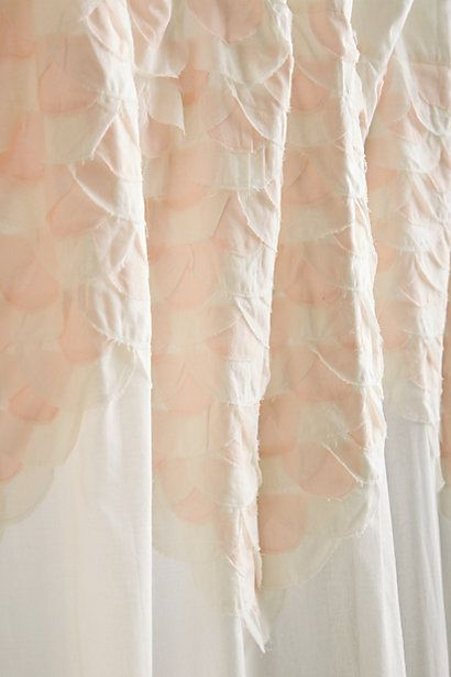 Curtains Ideas anthropology shower curtain : Scallop-Sequence Shower Curtain | Products, Curtains and Home