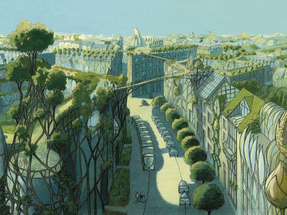 La cité végétale de Luc Schuiten: