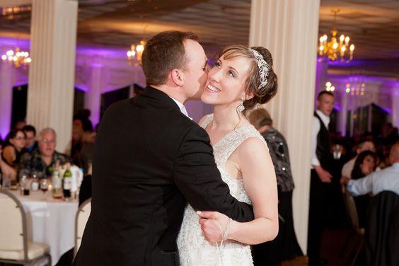 romantic bride and groom photos, wedding photos, palos country club photos, first dance photos