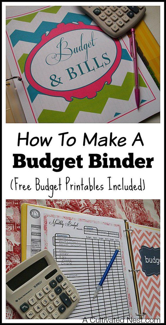 How to make a budget binder - This is a simple manageable system to get your personal finances organized in one place to make budgeting easier. Very easy to customize your own household budget notebook with free budget printables!