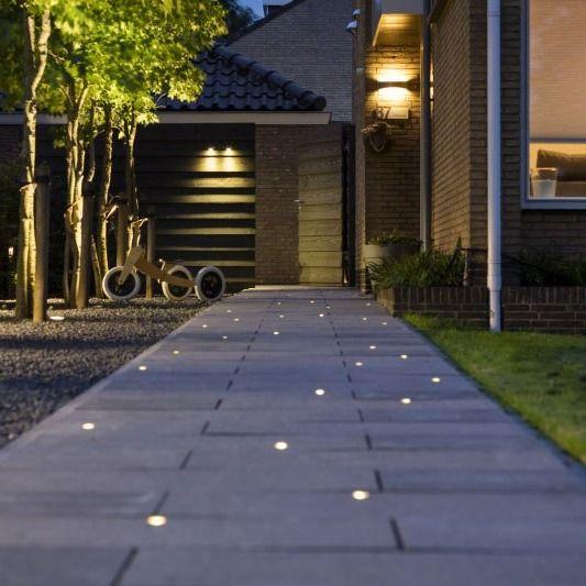 driveway lighting in ground lights