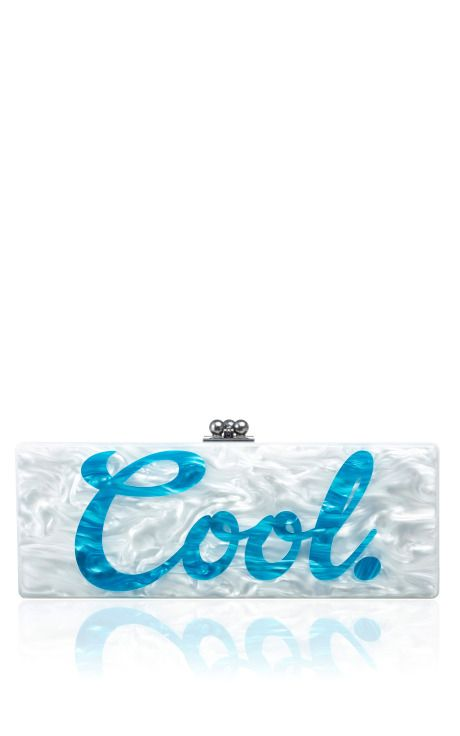 Flavia Cool acrylic box clutch by Edie Parker