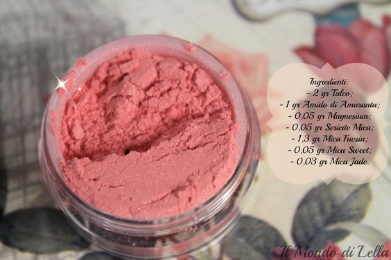 How to create your mineral make up! http://ilmondodilella88.blogspot.it/2013/10/diy-blush-minerale.html #mineralmakeup #makeup #DIY