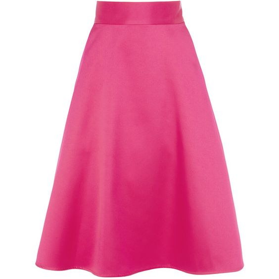 CORO SKIRT ($145) ❤ liked on Polyvore featuring skirts, bottoms, coro, knee length a line skirt, a line skirt, pink a line skirt and pink skirt