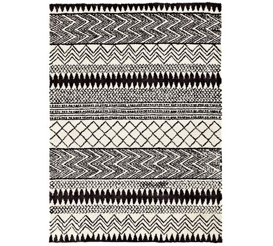 Buy Collection Infusion Shaggy Rug 120x170cm Monochrome At Argos Co Uk Visit Argos Co Uk To Shop Online For Rugs And Mats H Rugs And Mats Shaggy Rug Rugs