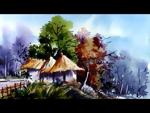 Nature Painting Watercolor জল র Nature Paintings Painting