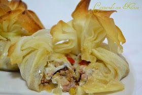 Cocinando con Kisa: Saquitos de carne con puerro, mozzarella y pimientos de piquillo