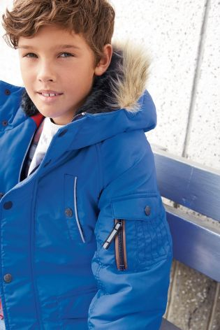 Parka Jacket (3-16yrs) from Next | Boys Outfits | Pinterest | D