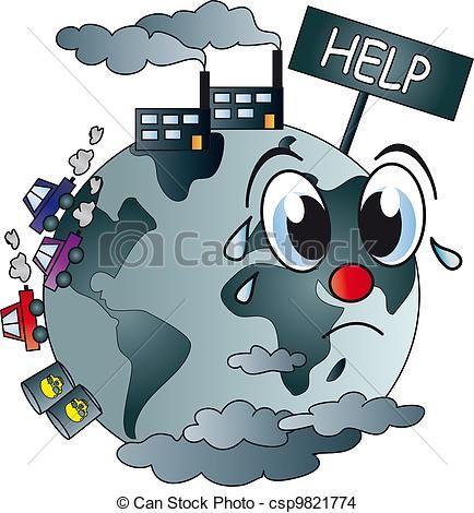 Mundo Contaminado Ilustracion De Archivo Ilustracion Surtida Ilustraciones Imagenes De La Contaminacion Contaminacion Del Planeta Contaminacion Atmosferica