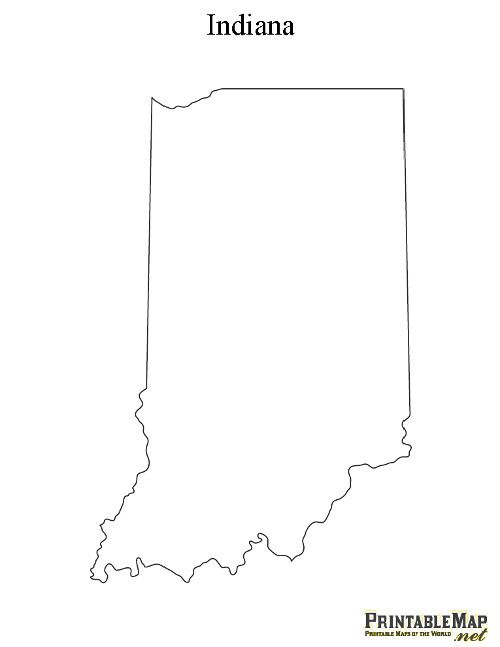 Printable State Outlines
