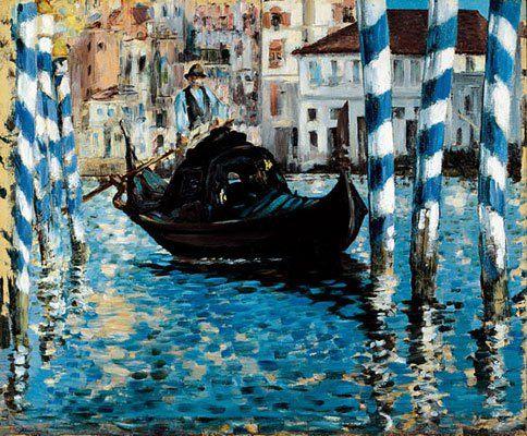 Gran canal de Venecia. Manet