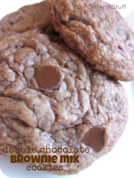 Double Chocolate Brownie Mix Cookies.  Tastes like a brownie but looks like a cookie!  So easy and delicious!