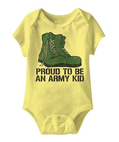 Take a look at this Banana Proud To Be An Army Kid Bodysuit - Infant by American Classics on #zulily today!