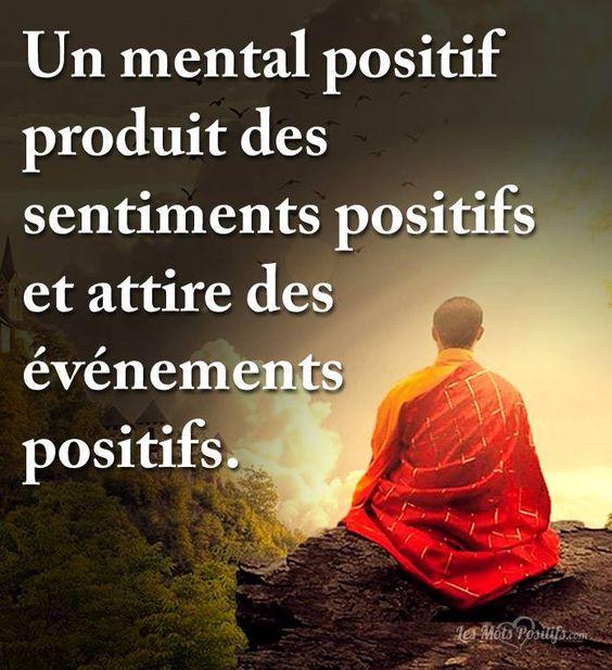 Un mental positif produit des sentiments positifs et attire des évènements positifs. #citation #citationdujour #proverbe #quote #bonheur