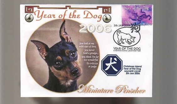 MINIATURE PINSCHER 2006 YEAR OF THE DOG STAMP COVER in Collectables, Animals | eBay