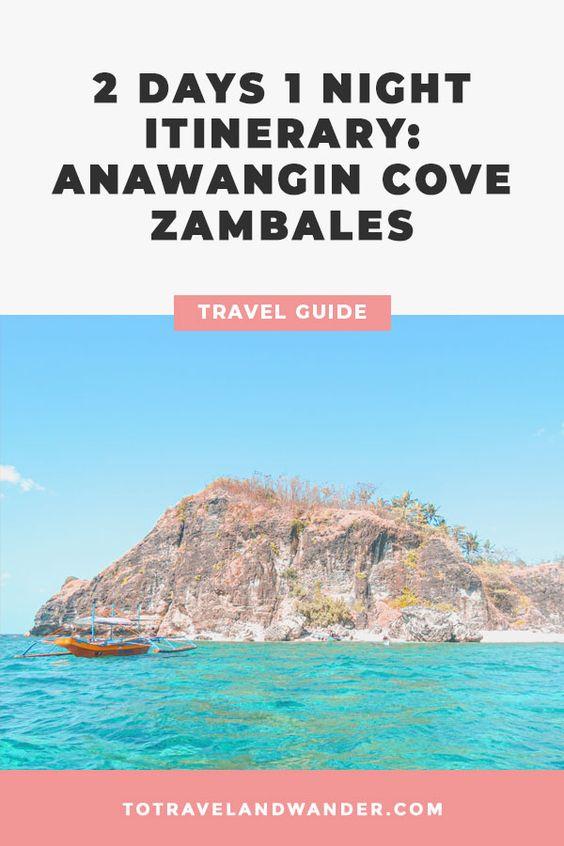 2D1N Anawangin Cove Itinerary Guide