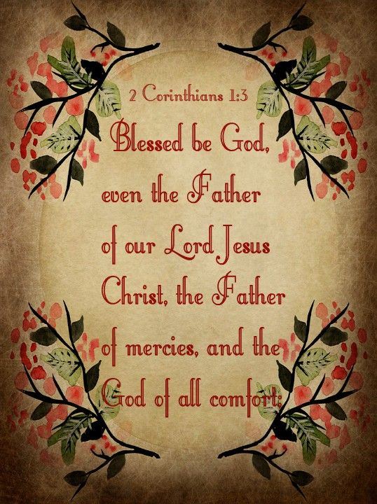 2 Corinthians 1 3 Kjv Blessed Be God Even The Father Of Our