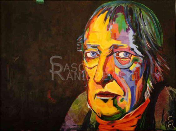 GEORG WILHELM FRIEDRICH HEGEL Acryl auf Leinwand, 80x60 cm gemalt von Sascha Raniszewski #hegel #philosoph #malerei #art