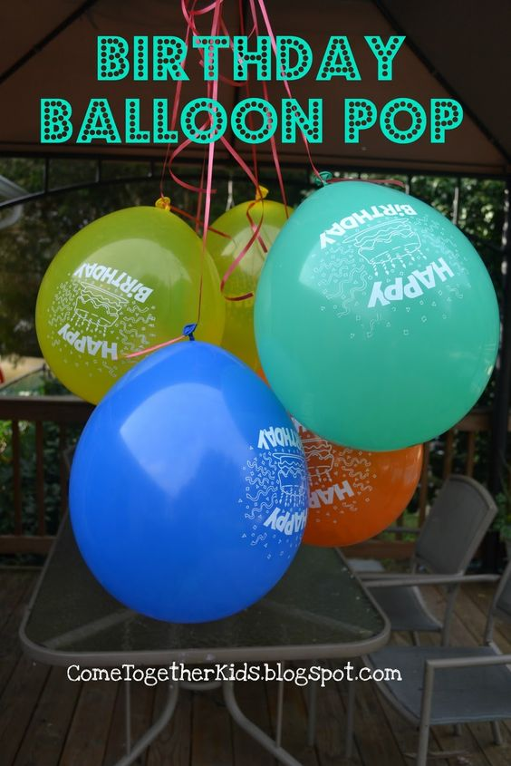 Birthday Balloon Drop