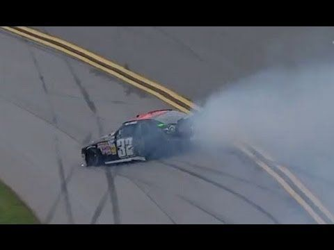 Kyle Larson blows a tire at Talladega!